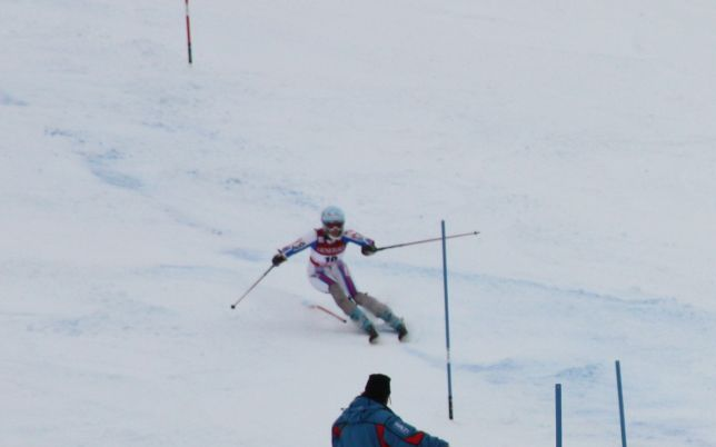 Marie Marchand-Arvier pendant le slalom